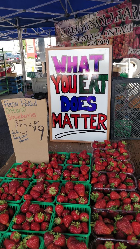 Sign from the Farmers Market