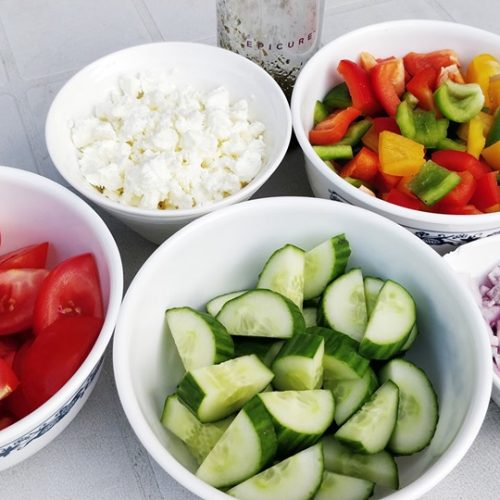 kid friendly greek salad