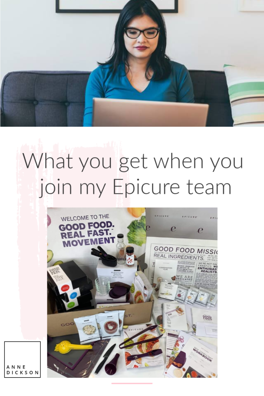 What you get when you join my Epicure team