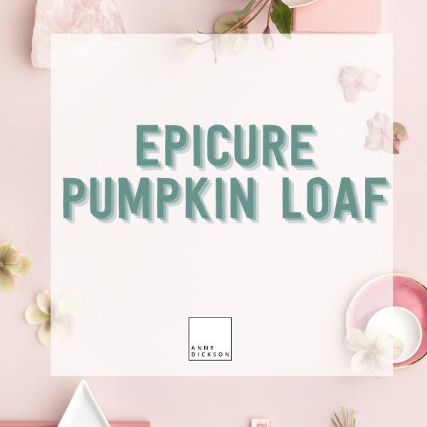 Epicure Pumpkin Loaf
