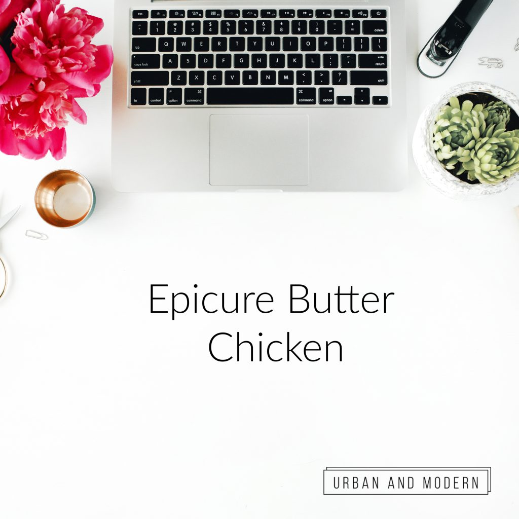Epicure Butter Chicken Review 1