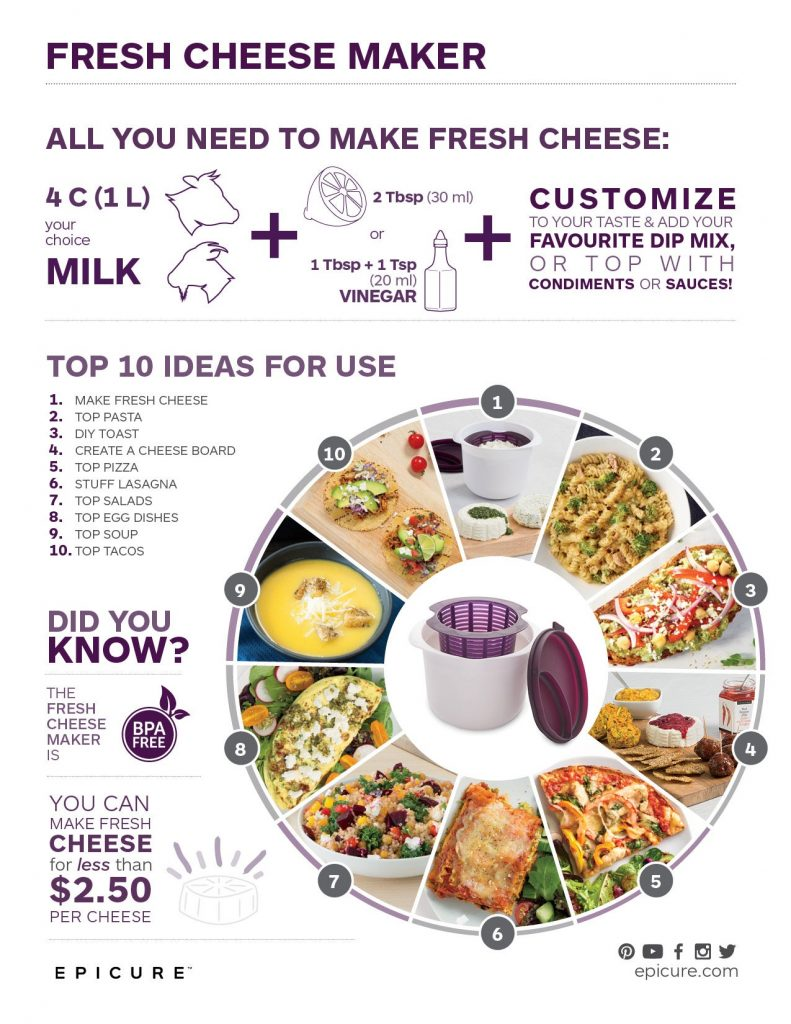 epicure cheese maker,