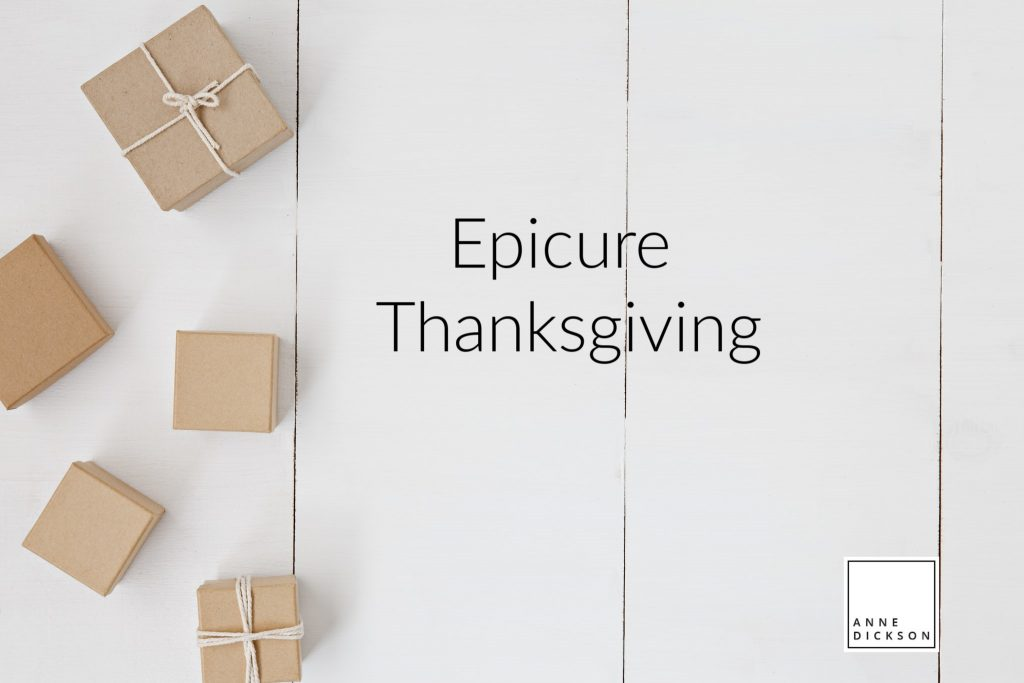 epicure thanksgiving