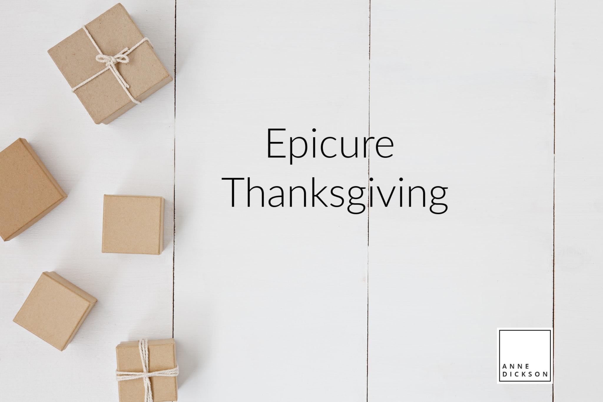 Epicure Thanksgiving