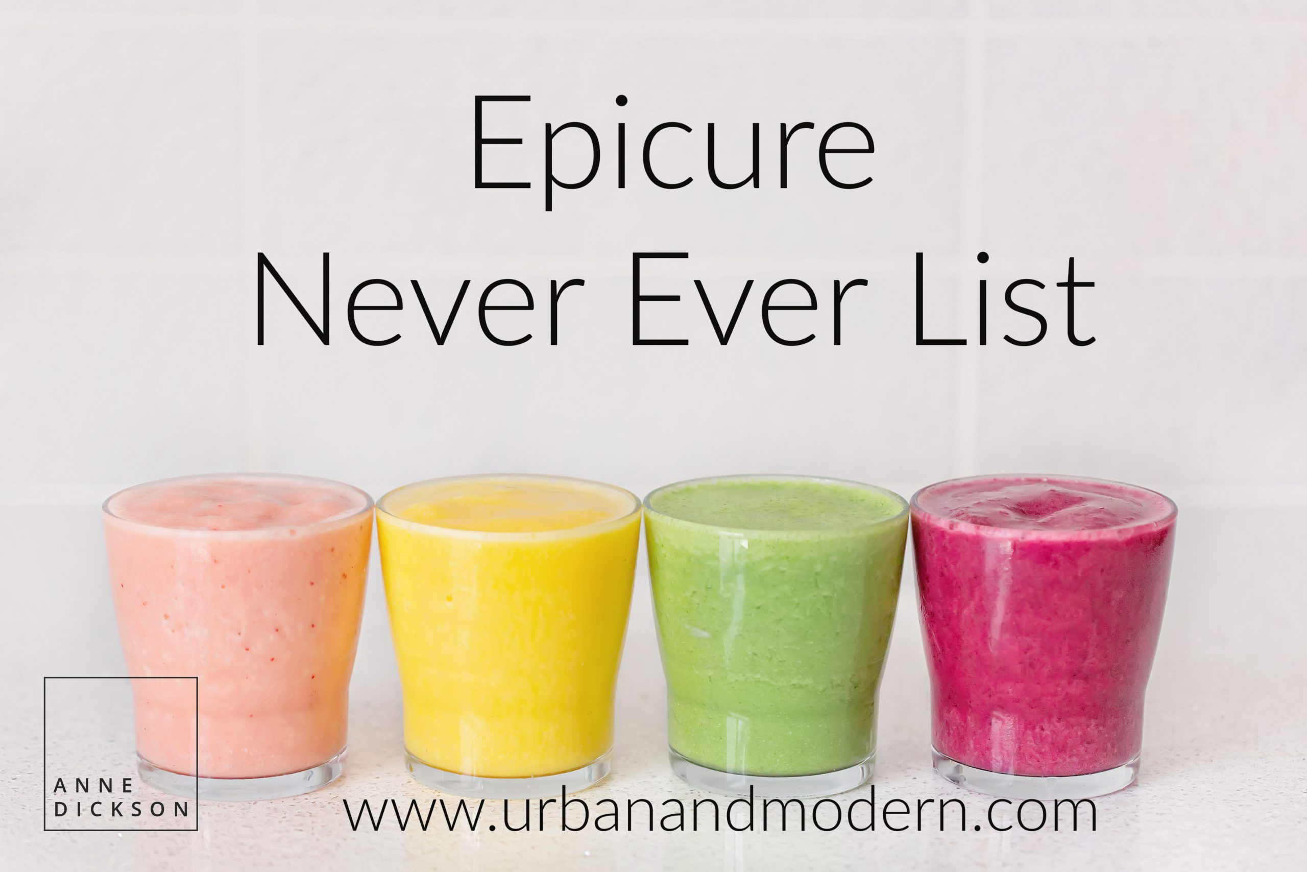 The Epicure Never Ever List