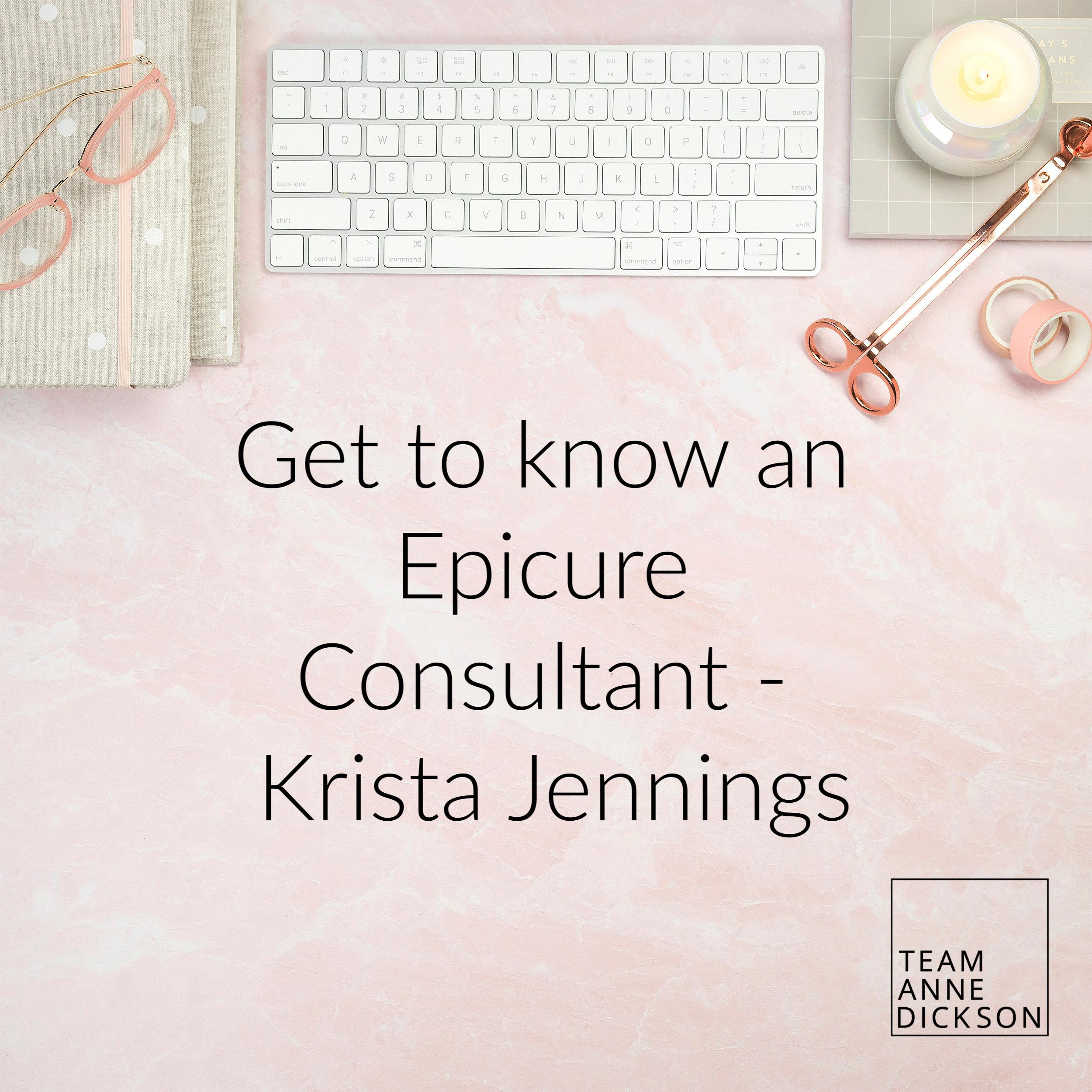 Epicure Consultant – Krista Jennings