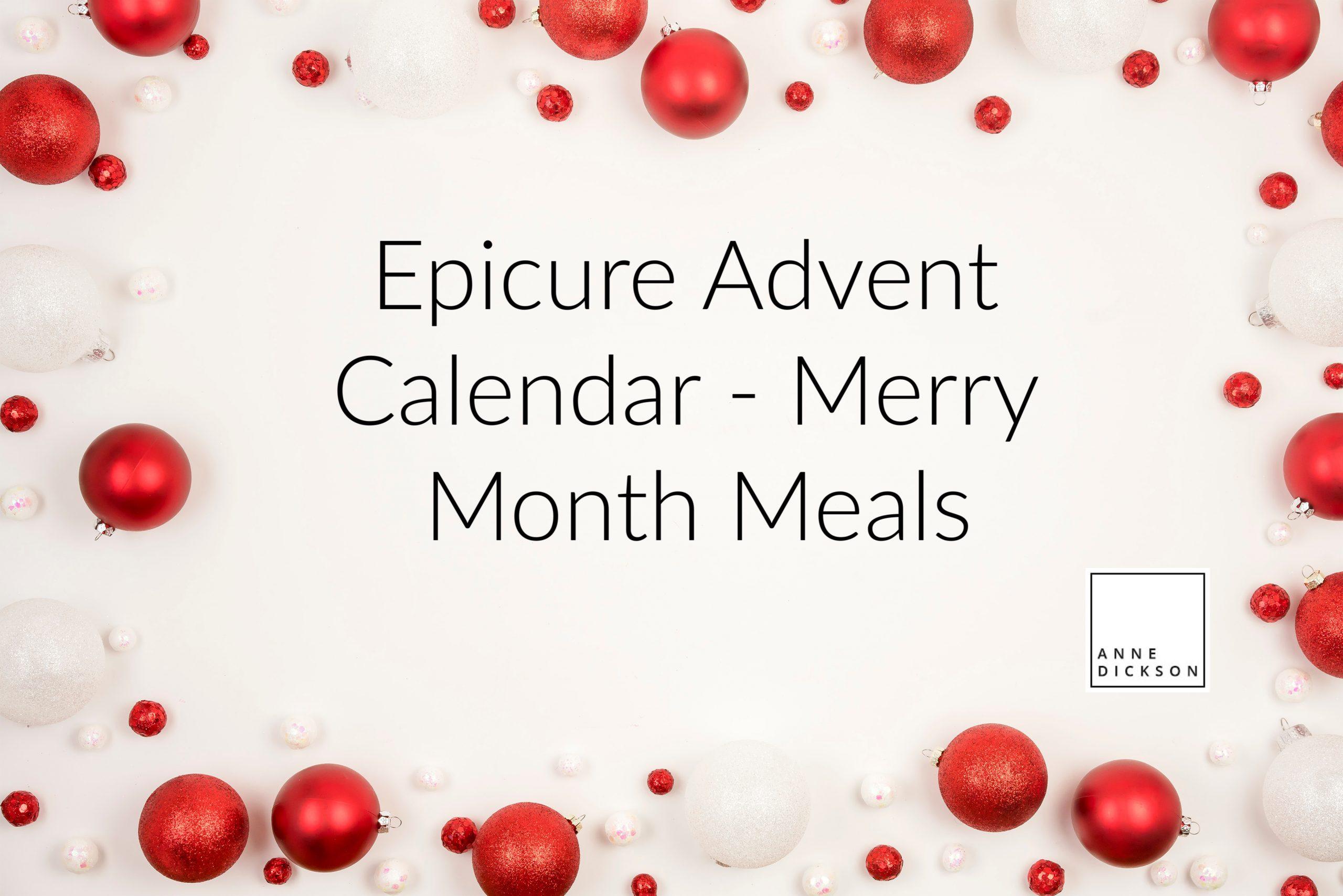Epicure Advent Calendar – Merry Month Meals