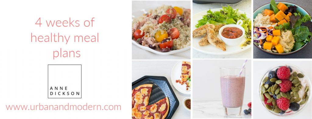 4 weeks of healthy meal plan