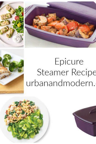 epicure steamer recipes