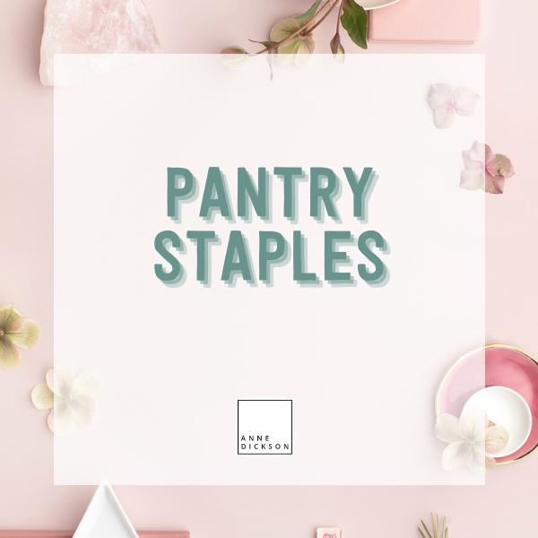 Pantry staples