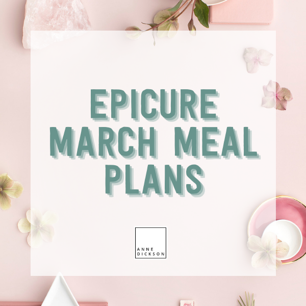 March Meal Plans