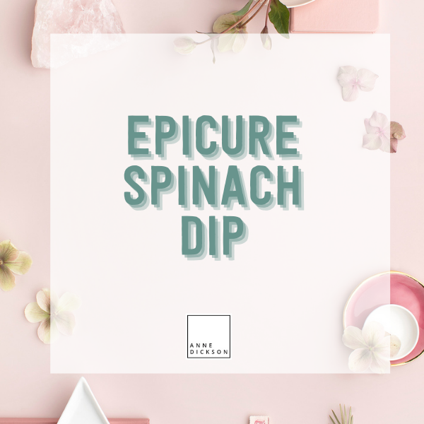 Epicure Spinach Dip Recipes