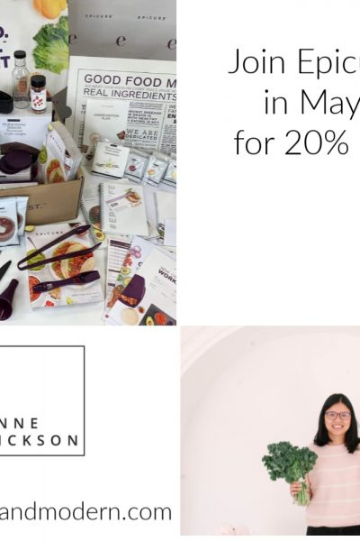 join epicure in may 2020