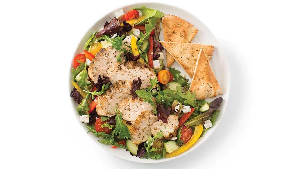 salad with pita
