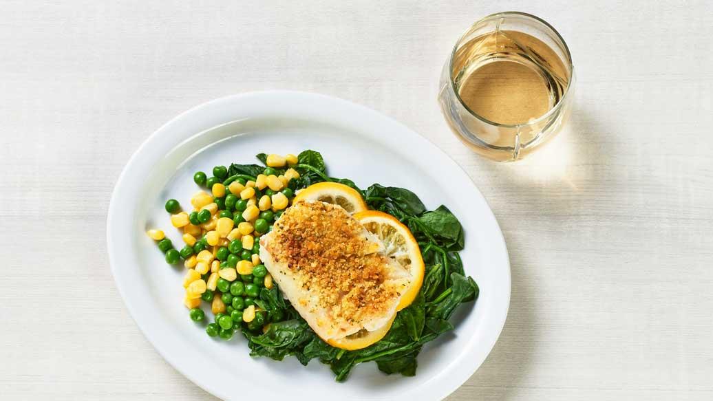 Herb & Garlic Baked Cod
