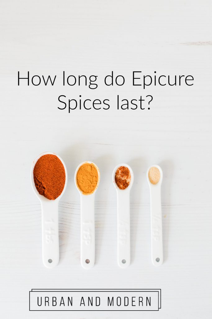 how long does epicure spices last