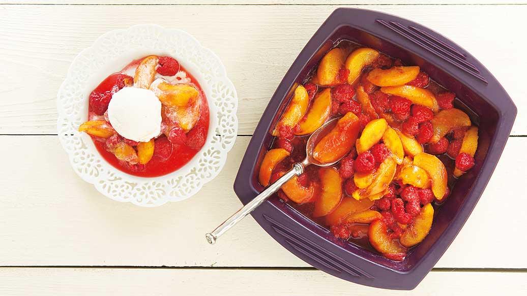 Peach & Raspberry Compote