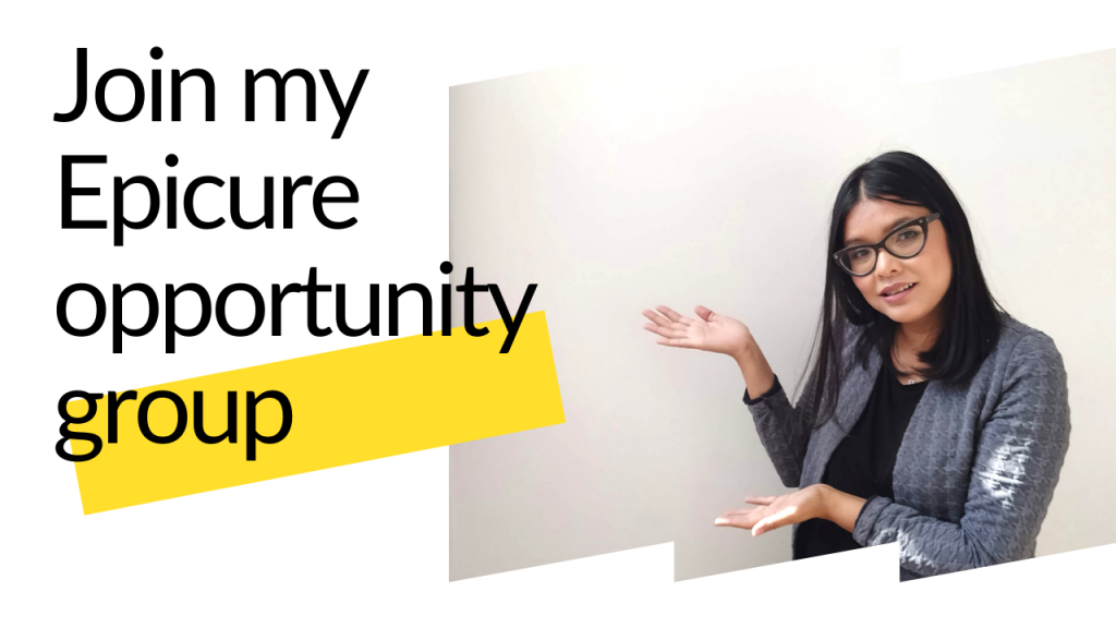 join my epicure opportunity group