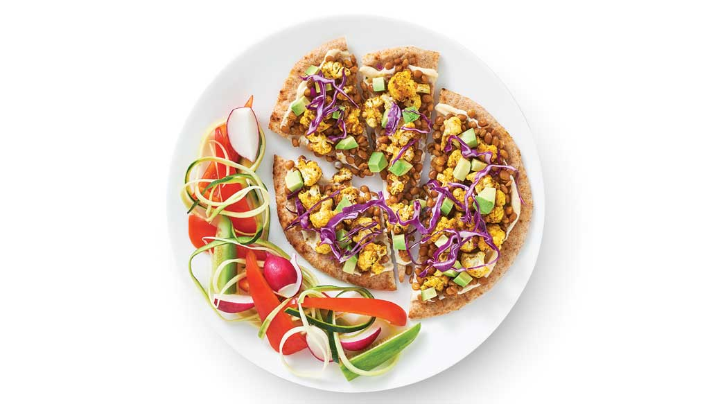 Loaded Naan Pizzas