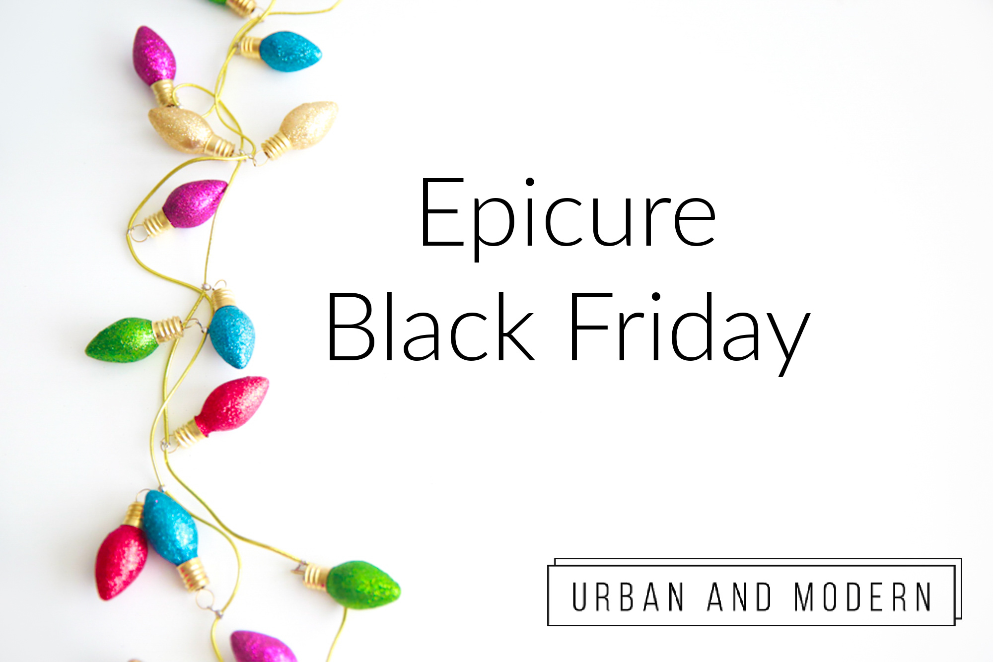 Epicure Black Friday 2020