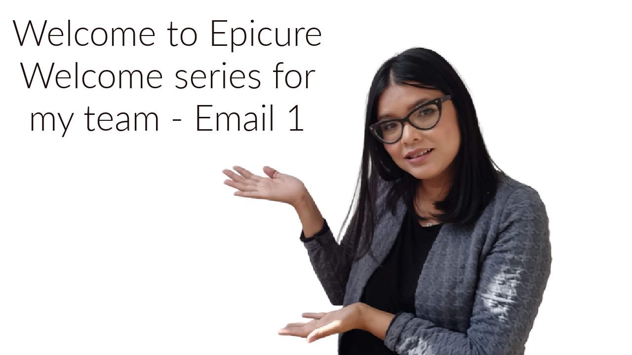 Epicure New Consultant training emails – 1