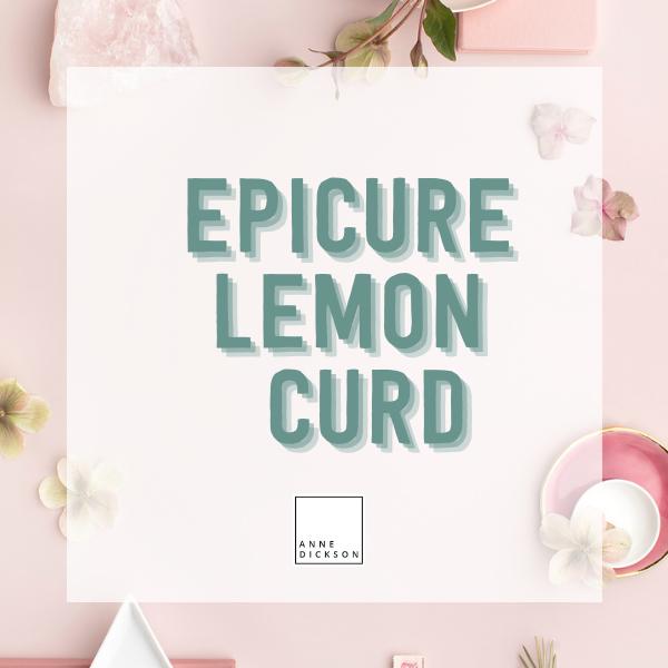 Epicure Luscious Lemon Curd