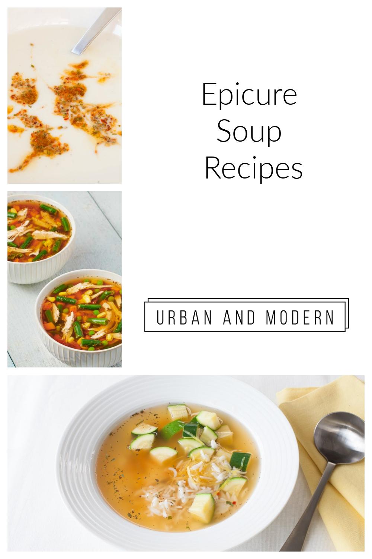 Epicure Soup Recipes