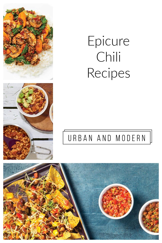 Epicure Chili Recipes