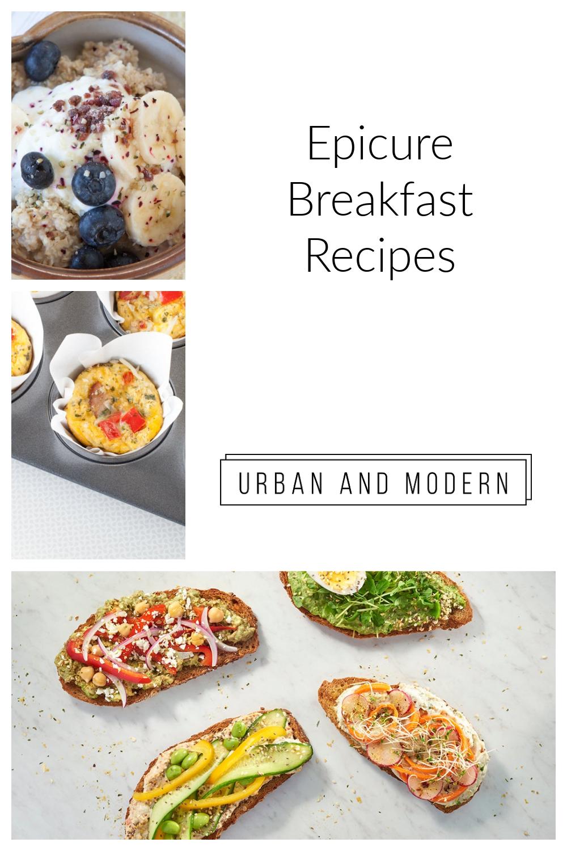 Epicure Breakfast ideas