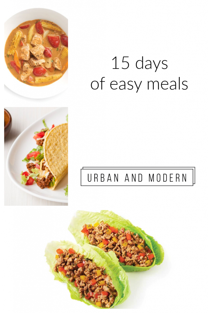15 days of easy meals 1