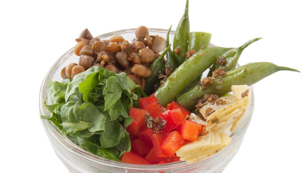 Layered Lentil and Vegetable Salad