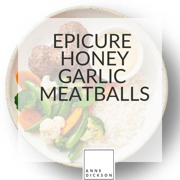 Epicure honey garlic meatballs